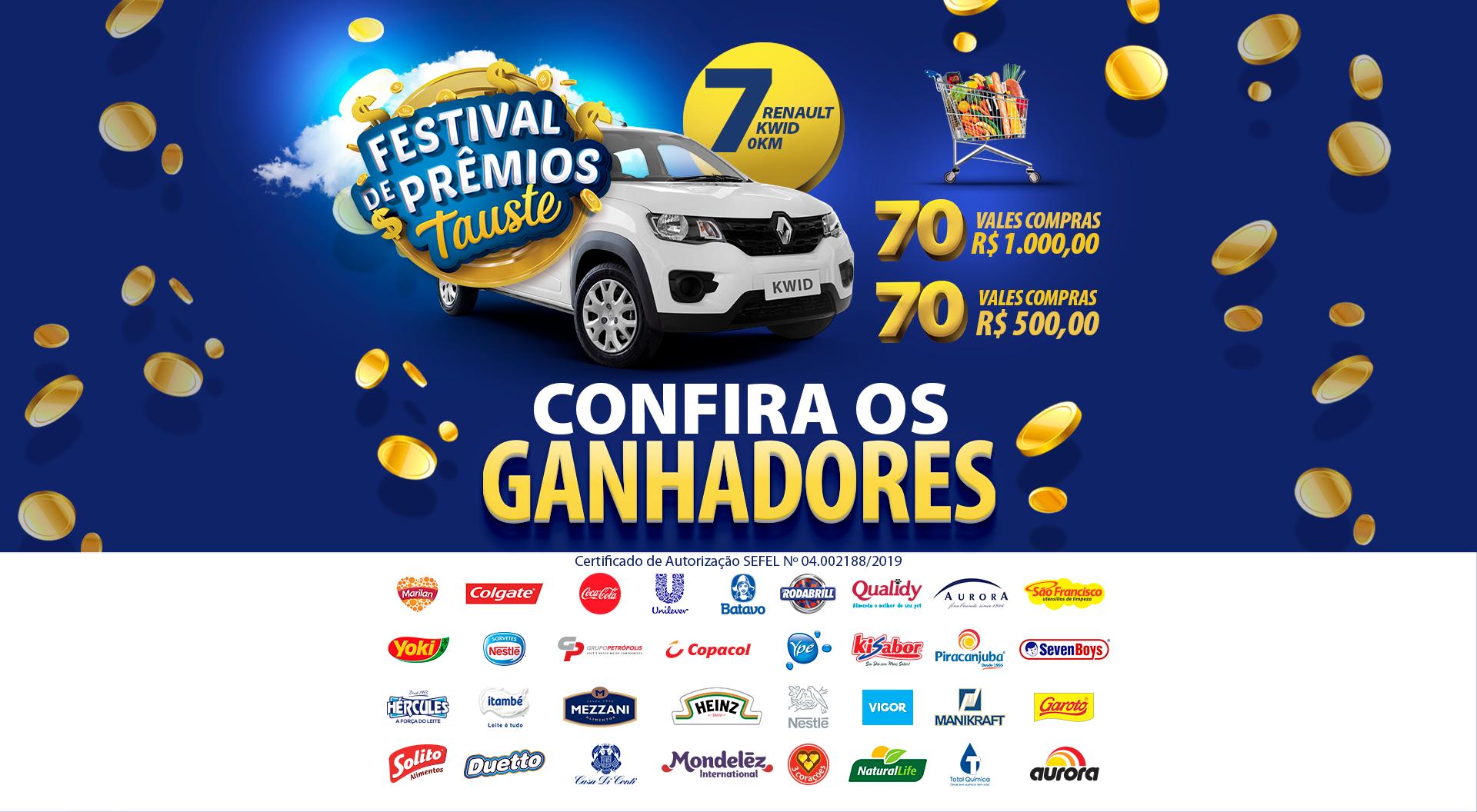"""Ganhadores """"Festival de Prêmios Tauste"""" 2019 - ENCERRADA"""